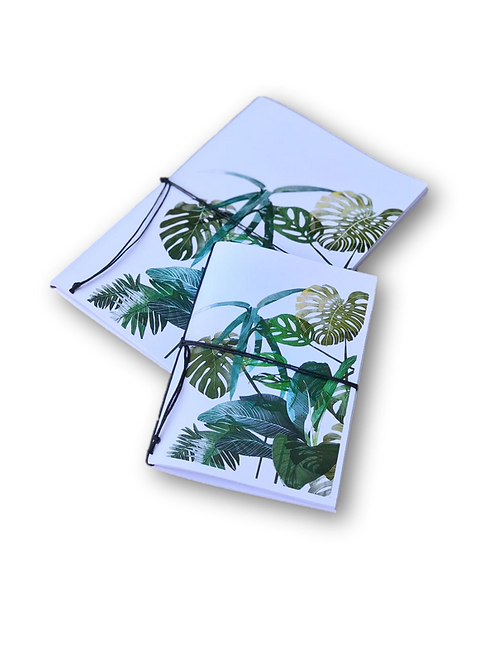 Notebook Tropical Leaves (A5 & A7)-80pages
