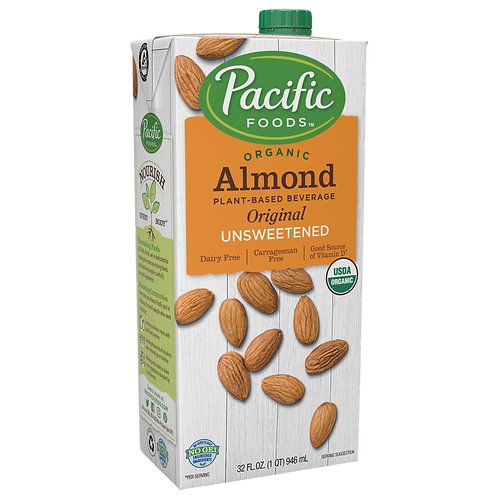Pacific Organic Almond milk Unsweetened 946ml