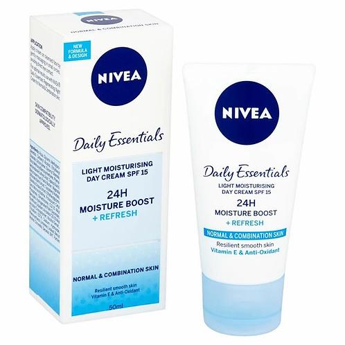 Nivea Light Moisturising Day Cream 50ml (Normal & Combination Skin)