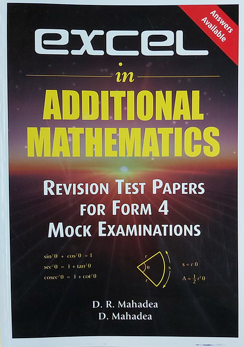 Excel In Additional Maths Rev.Papers Form 4