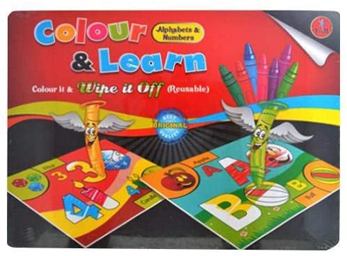 Colour & Learn Coloring Game- Alphabets & Numbers