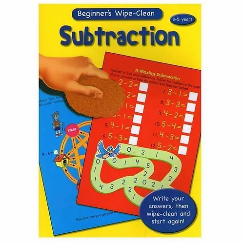 Beginner's Wipe Clean Subtraction (3-5 Years)