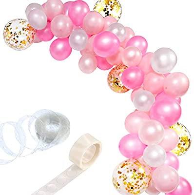 Celebration Set Ballons-Pink,White,Gold