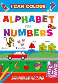 EARLY LEARNING ABC/123 BOOK- I CAN COLOUR ALPHABET & NUMBERS