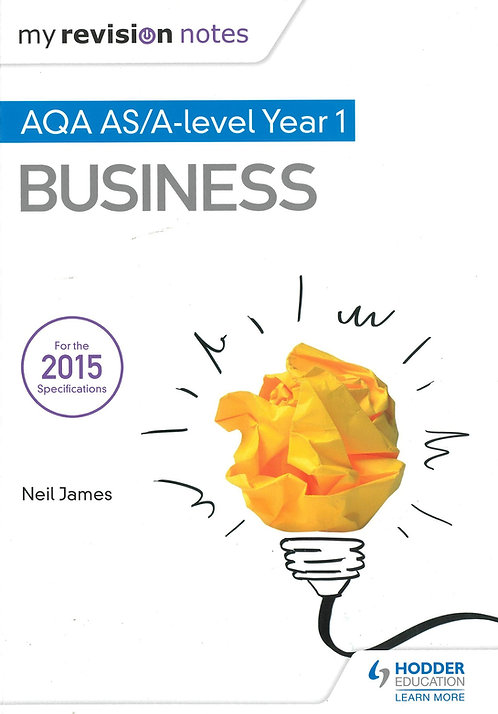 Business Revision Notes AQA AS & A Level Year 1