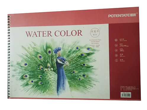 Watercolor Pad 200gm 16 sheets 39x27cm Spiral