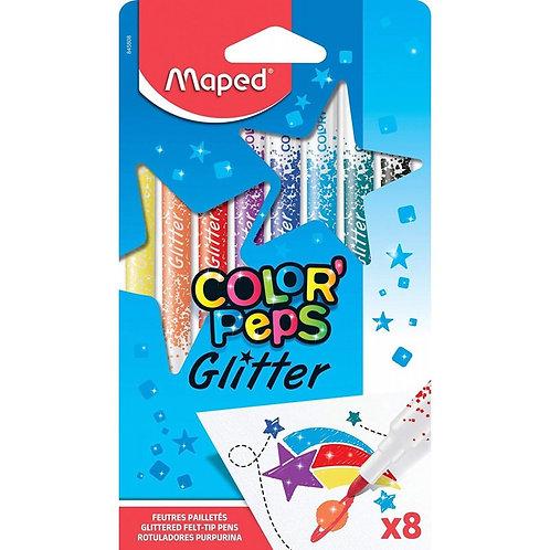 Maped Felt Pens Glitter Set of 8