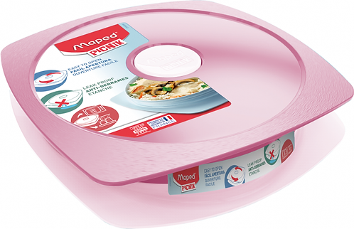 Lunch Plate Concept Adult Maped Pink 900ml