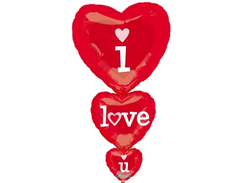 I LOVE U Balloon Foil