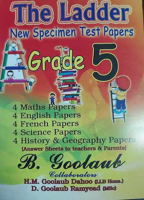 Ladder Grade 5 Test Papers