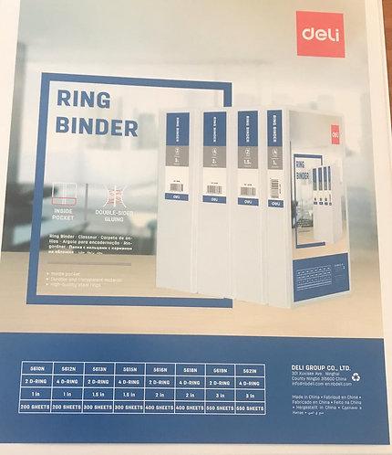 Deli Ring Binder File