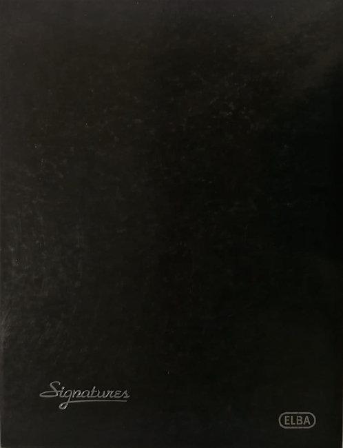 Elba Parapheur Carte d'or A4 12 Positions Noir