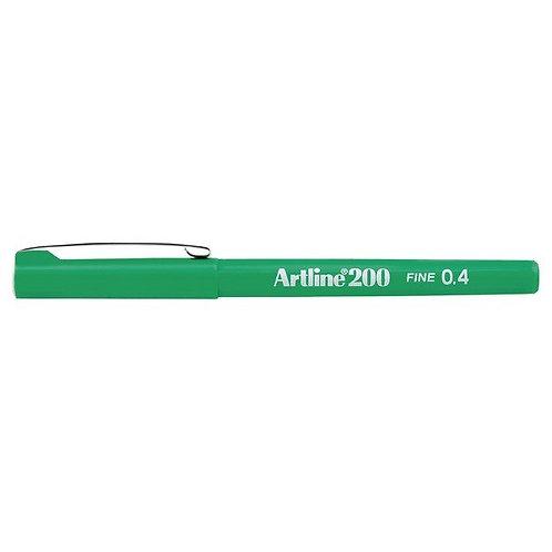 Artline Writing Pen 0.4 200b Green
