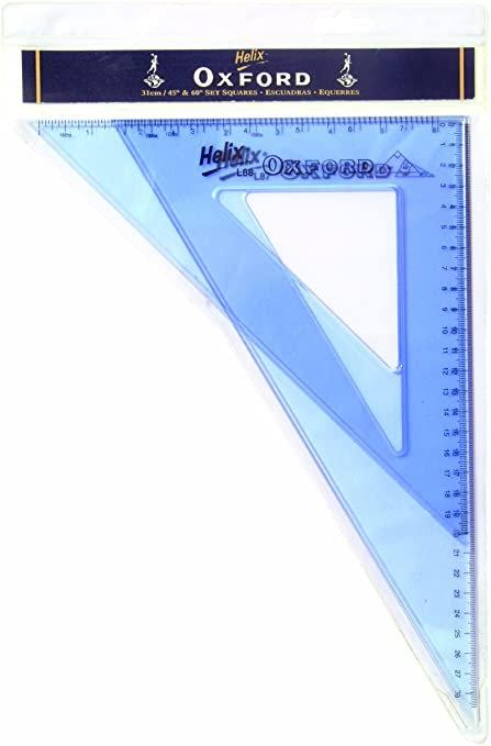 Oxford 31cm 45o/60o pair Set Squares
