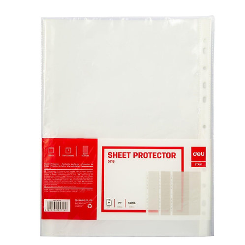 Deli Sheet Protector A4 (Pack 20)