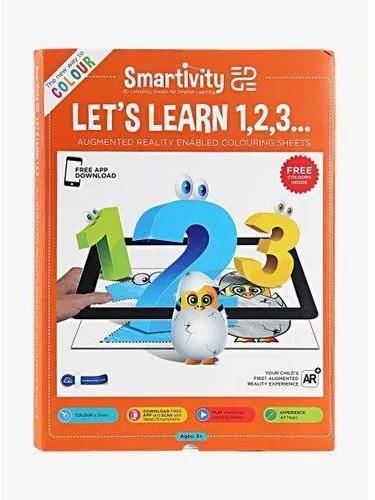 Smartivity- Let's Learn 1,2,3 Augmented Reality Enabled Colouring sheets