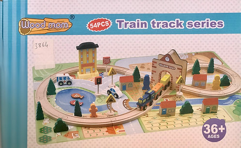 54 Pieces Train Track Series Game