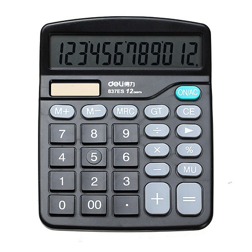 Calculator Deli Desktop Black