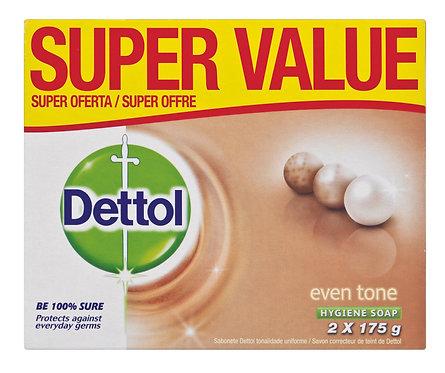 Dettol soap value pack even tone 2x175g