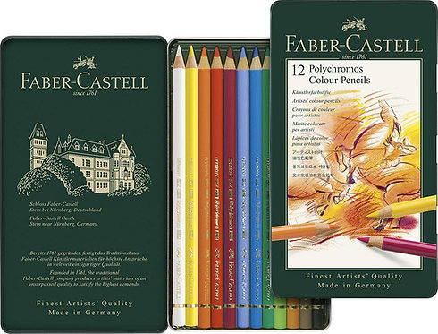 Faber Castell Polychromos Art Colouring Pencils Box of 12