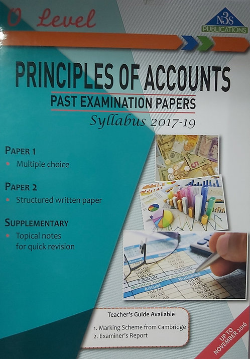 Principle Of Account Past Exams O Level N3S