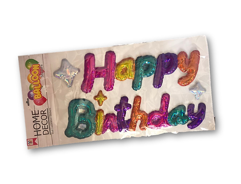 Happy Birthday Sticker Foil