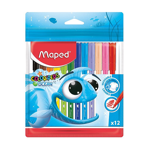 Maped Color'Peps Felt Tips Ocean Pulse (Pack Of 12)