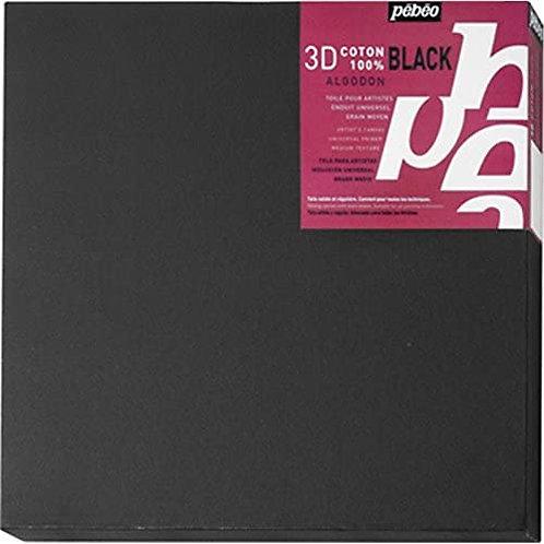 Pebeo Canvas Coton 3D Noir (20x60cm)