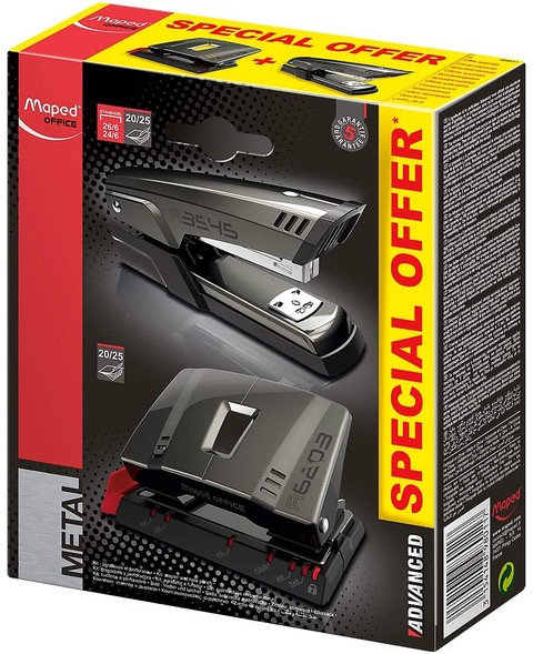 Maped Advanced Stapler And Hole Punch Set