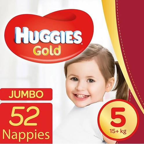 Huggies Gold Unisex Size 5  (15+Kg) (x52)