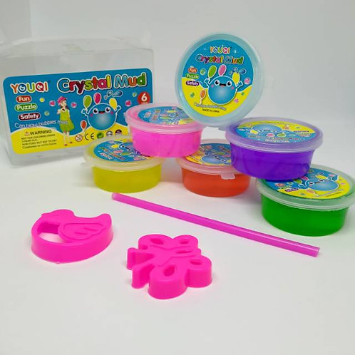 Crystal Mud (Slime) Pack of 12 colours