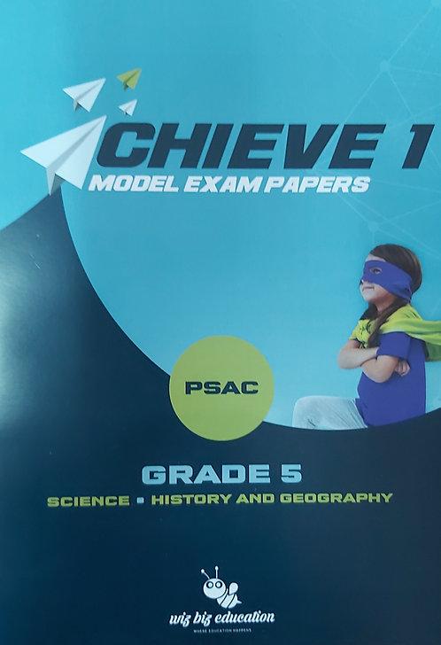 Wiz Biz- Achieve 1 Model Exam Papers Grade 5 Science, Hist & Geo Psac