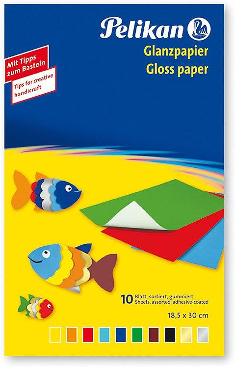 Pelikan Paper Glossy Self-Adh 10Sh (30cmX18Cm)