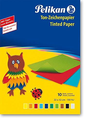 Pelikan Tinted Coloured Drawing Paper 10Sh 130g (30cmX18Cm)
