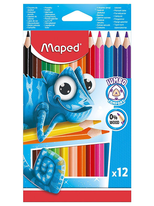 Maped Jumbo Coloured Pencils (Box Of 12)