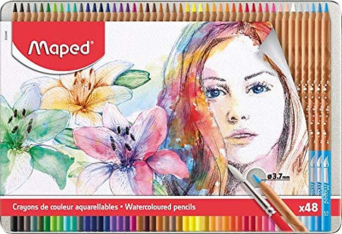 Water Color Pencil Maped For Artists Metal (Box Of 48)