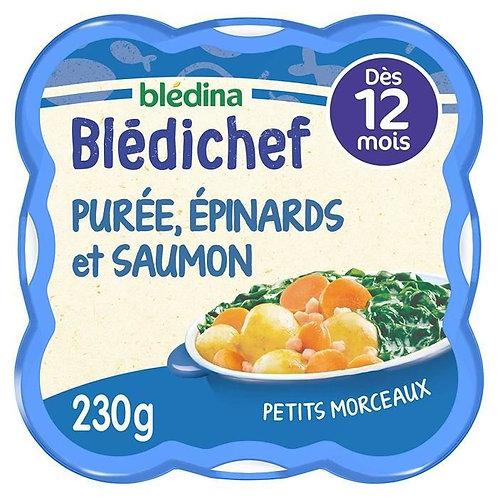 Bledichef Purée Oncteuse, Épinards Et Saumon Du Pacifique 230g
