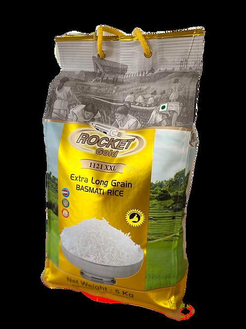 Rocket Gold  Pure Premium 1121 Basmati Rice (5kg)