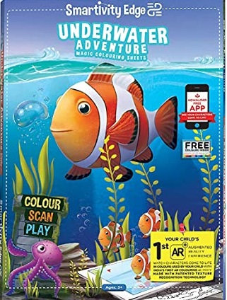 Underwater Adventure magic colouring sheets