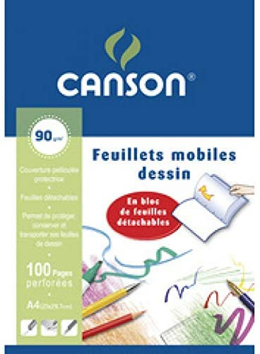 Canson Feuillets mobiles dessin 90gm-100pages