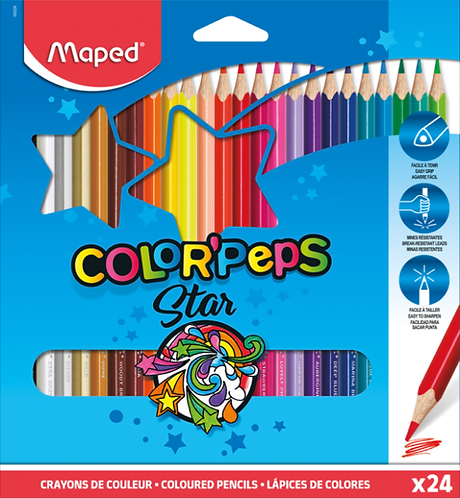 Colour Pencils Color'Speps X24 Cardboard Box