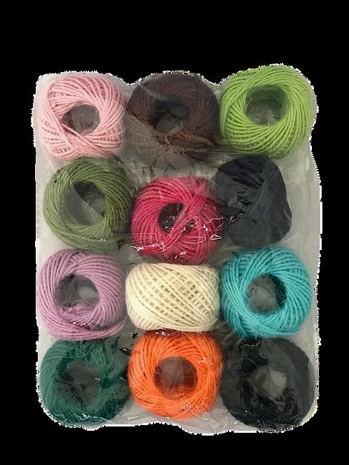 Jute Colour Rolls- Pack of 12 Colours