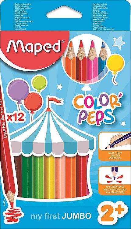 Maped Jumbo Color'Peps (Box Of 12)