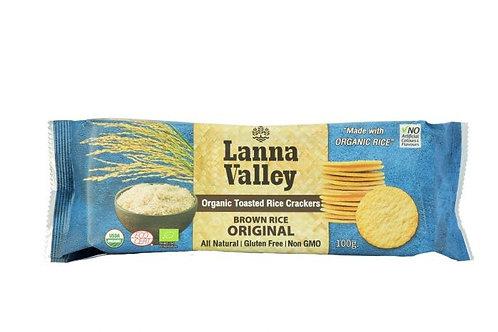 Lanna Valley Organic Rice Cracker Orignal Brown Rice 100g