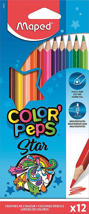 Maped Color'Peps Colour Pencils (Box Of 12)