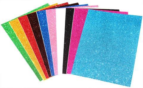 Foam Paper A4 Glitter 10 Sheets