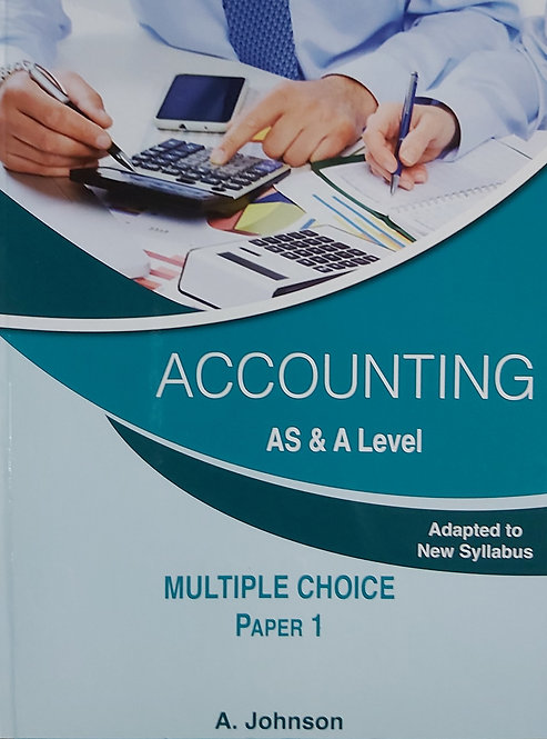 Accounting As & A Level Mcq Paper 1 (2015)