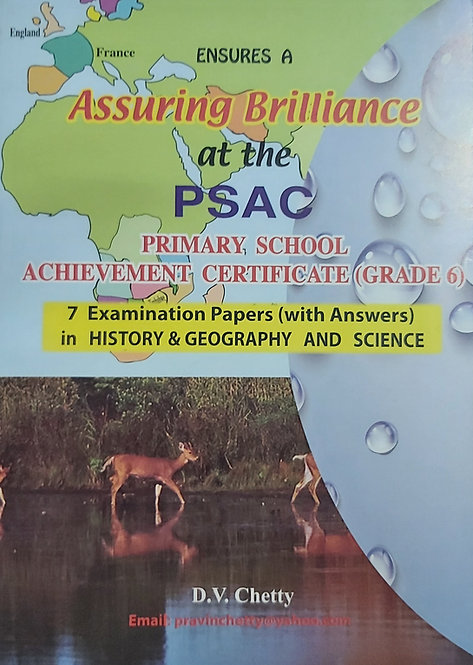 Ensures A-Assuring Brilliance the PSAC His& Geo/Science Grade 6