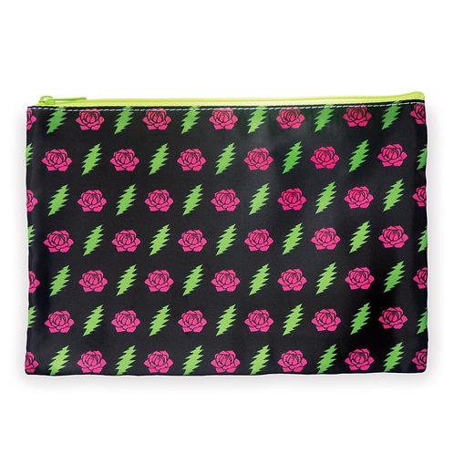 Bolts & Roses Zipper Bag