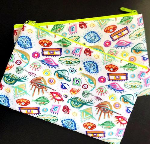 Eyes of the World Zipper Bag